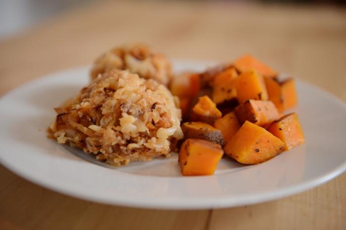 sweetpotatoes and cauli
